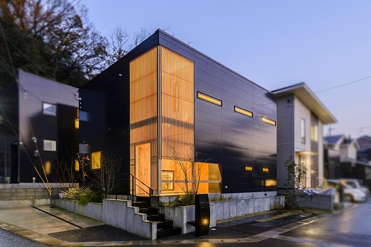 光の陰影美しい、「リンゴ型」の家